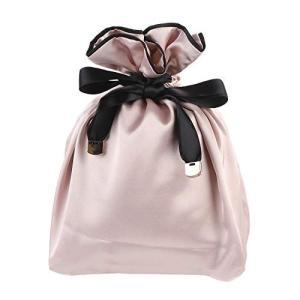 NEOVIVA 巾着 袋 女の子 化粧品ポーチ 小物入れ スベスベ 旅行 ギフト ピンク|kumagayashop