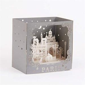 moin moin メッセージ カード グリーディング クリスマス 飛び出す 切り絵 芸術|kumagayashop