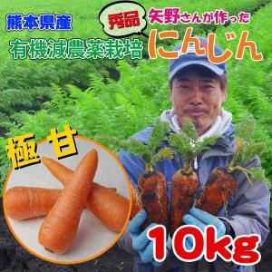 秀品 にんじん 10K (有機減農栽培) kumamiru