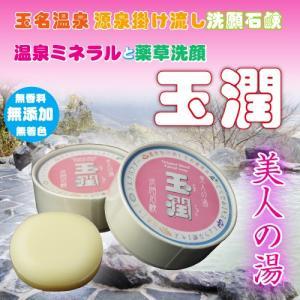 洗願石鹸 玉潤 (無香料、無添加、無着色) 100g 3個セット 送料無料|kumamiru