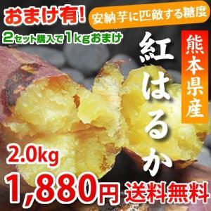 紅はるか 送料無料 2箱購入で1kg増量 生芋 安納芋 に匹...