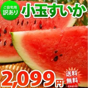 スイカ 送料無料 小玉すいか 熊本県産 ご自宅用 訳あり 2玉 約2.3kg~2.5kg