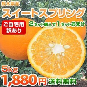熊本県産「訳あり」スイートスプリング すっきりとした甘さと爽やかな香り♪ 【送料無料・2箱購入でおまけ付】