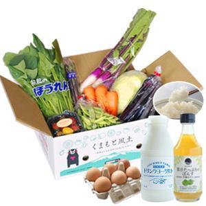 復興福袋 熊本県産 野菜セット あきだわら5kg たまご ドリンクヨーグルト デコぽんず 送料無料 7-14営業日以内に出荷予定 土日祝日除く