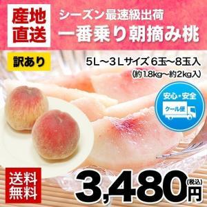 桃の名産地・熊本県産 送料無料 クール便 朝摘み桃(5L-3...