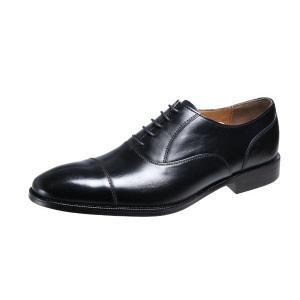メンズシューズストレートチップ内羽根ベルガモ紳士靴革底マッケイ製法ビジネスシューズ2871ブラック|kumamotoya