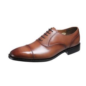 メンズシューズストレートチップ内羽根ベルガモ紳士靴革底マッケイ製法ビジネスシューズ2871ブラウン|kumamotoya