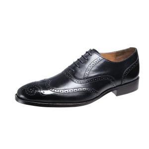 メンズシューズウイングチップ内羽根ベルガモ紳士靴革底マッケイ製法ビジネスシューズ2873ブラック|kumamotoya