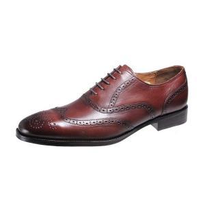 メンズシューズウイングチップ内羽根ベルガモ紳士靴革底マッケイ製法ビジネスシューズ2873ダークブラウン|kumamotoya