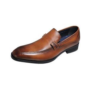 マドラスモデロメンズシューズ MODELLO 紳士靴Uモカスリッポン342ライトブラウン|kumamotoya