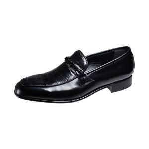 マドラスメンズシューズルテシアLUTECIA紳士靴Uチップスリッポン3000ブラック kumamotoya