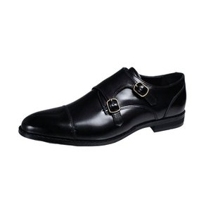 フランコルッチメンズシューズFRANCO LUZIモンクストラップビジネスシューズ本革紳士靴2202ブラック|kumamotoya