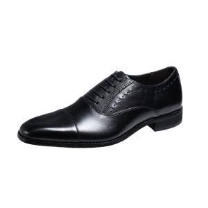 マリオバレンチノ紳士靴MARIO VALENTIBOストレートチップビジネスシューズ3039ブラック|kumamotoya