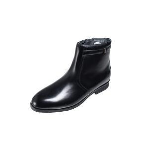 マドラス madras 紳士靴メンズブーツ4534ブラック撥水加工本革紳士ブーツ内ファスナー付ショートブーツ|kumamotoya