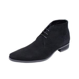 トラサルディメンズチャッカーブーツTRUSSARDI紳士靴チャカーブーツ13079ブラックスエード|kumamotoya