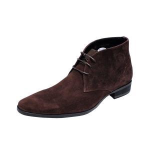 トラサルディメンズチャッカーブーツTRUSSARDI紳士靴チャカーブーツ13079ダークブラウンスエード|kumamotoya