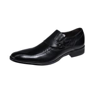 メンズビジネスシューズスワールモカスリッポン紳士靴4005ブラック|kumamotoya