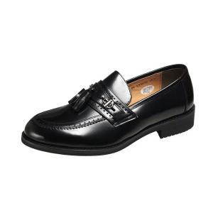 マドラスモデーロ VITAタッセル付ローファースリッポン撥水加工で軽量設計した紳士靴 Uチップで幅広...