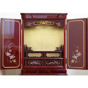 仏壇 金仏壇 小型仏壇 赤い仏壇 せせらぎ14号|kumano-butu