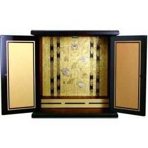 仏壇 漆調 小型仏壇 上置仏壇 ミニ仏壇 金蒔小(金蒔絵)|kumano-butu