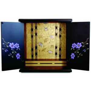 仏壇 小型仏壇 ミニ仏壇 青華 小 漆調|kumano-butu