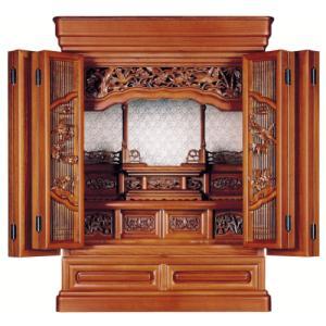 仏壇 小型仏壇 けやき杢 花しずく25号|kumano-butu