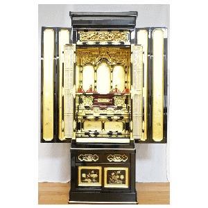 金仏壇 仏壇 西・東用 秋慶15号 満点レビューで宗派専用仏具を半額|kumano-butu