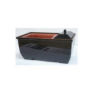 焼香用香炉 PC やすらぎ 5.0寸 黒 フチ金|kumano-butu