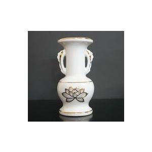 並仏花 陶器製 白 上金蓮 小|kumano-butu