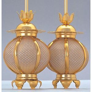 灯篭 仏具 アルミ灯篭 新丸形 小|kumano-butu