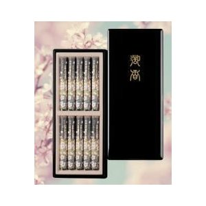 線香 進物用線香 ギフト 特選淡墨の桜(うすずみのさくら)塗箱短10入 日本香堂|kumano-butu