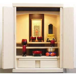 仏壇 モダン仏壇 ミニ仏壇 日本製 仏壇仏具セット ひばり18号|kumano-butu