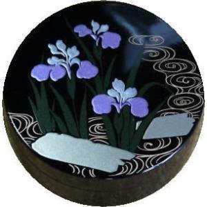 香合 切立 香道具 お香 焼香 日本製 仏具 菖蒲2.6寸|kumano-butu