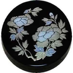 香合 切立 香道具 お香 焼香 日本製 仏具 牡丹2.6寸|kumano-butu
