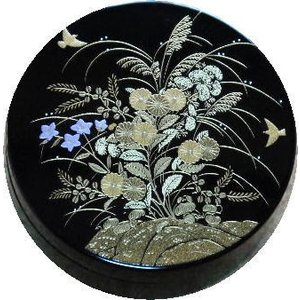 香合 切立 香道具 お香 焼香 日本製 仏具 花鳥2.6寸|kumano-butu