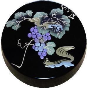 香合 切立 香道具 お香 焼香 日本製 仏具 葡萄にりす2.6寸|kumano-butu