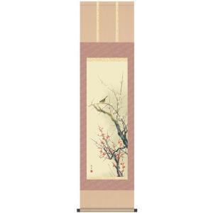 床軸 掛け軸 四季花鳥 尺三サイズ 四季揃 春 洛彩緞子三段表装|kumano-butu