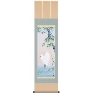 床軸 掛け軸 四季花鳥 尺三サイズ 四季揃 夏 洛彩緞子三段表装|kumano-butu