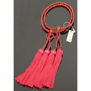 数珠 念珠 女性用 瑪瑙8寸 浄土真宗 桐箱入り|kumano-butu