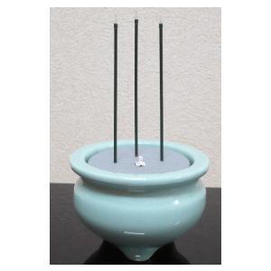 電子線香 サンやすらぎ 陶器 青磁 白香炉|kumano-butu
