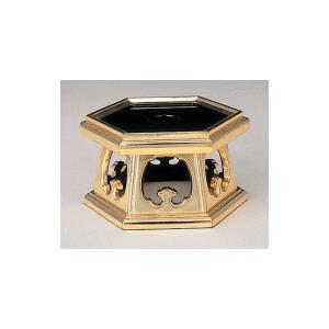 りん台 京形六角リン台 木製 純金箔 4.0寸 kumano-butu