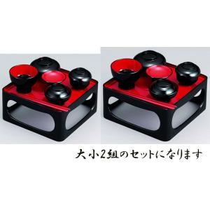 仏膳椀 PC 黒内朱 入子 7.0寸|kumano-butu
