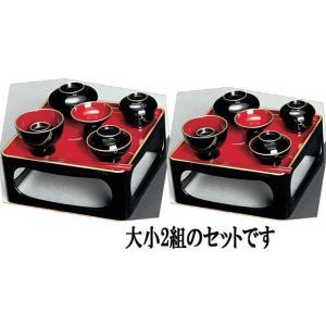 仏膳椀 PC ふち金 黒内朱 入子 6.5寸|kumano-butu