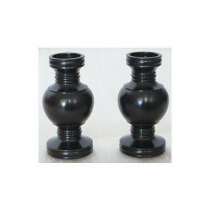 華鋲 黒光色 1対 2.3寸|kumano-butu
