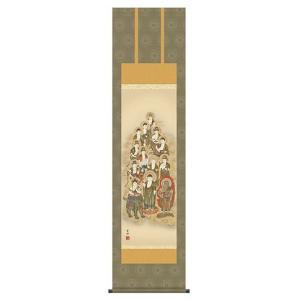掛け軸 床軸 十三佛 洛彩緞子佛表装・尺三 純国産|kumano-butu