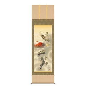 床軸(掛け軸) 開運 縁起画 厄除図 尺三 化粧箱収納 十二神将昇龍図 洛彩緞子本表装 表装品質十年間保障付 純国産|kumano-butu
