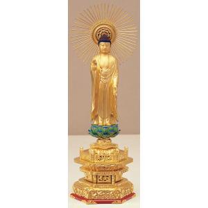 仏像 真宗東ご本尊 木製純金箔押し 4.5寸|kumano-butu