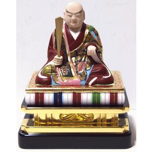 仏像 日蓮上人 彩色 1.8寸|kumano-butu