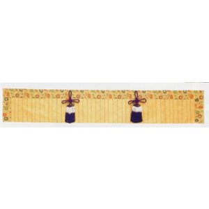 御簾 仏間用御簾 みす 仏具 金欄 竹 巾84 丈19cm|kumano-butu