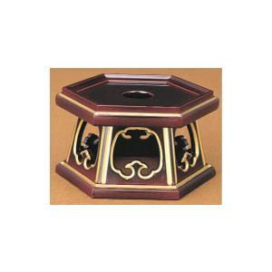 りん台 京形六角リン台 PC 溜面金 5.0寸 kumano-butu